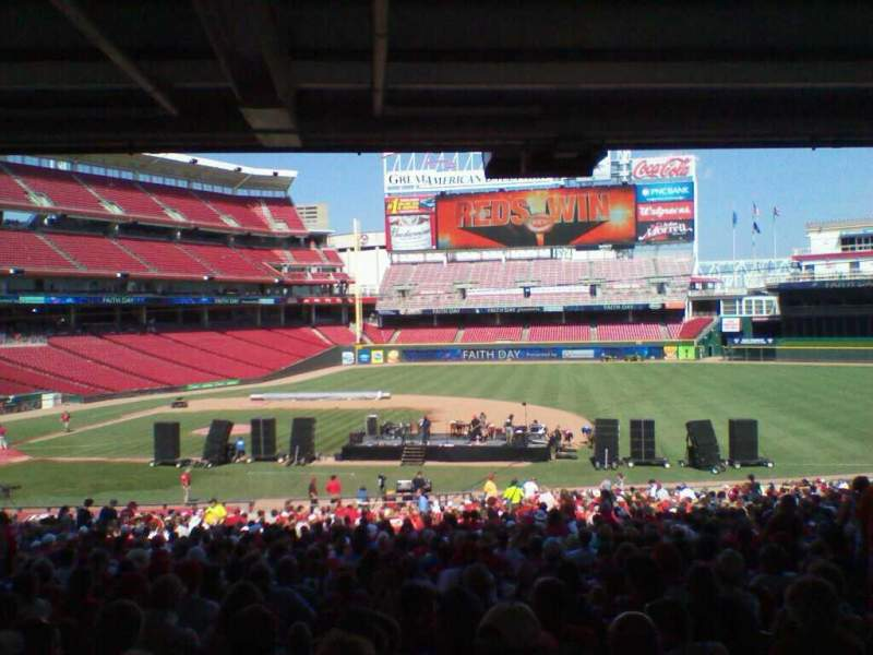 Seating view for Great American Ball Park Section 131