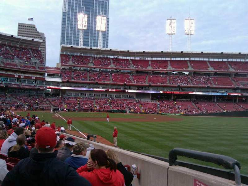 Seating view for Great American Ball Park Section 138 Row S Seat 11
