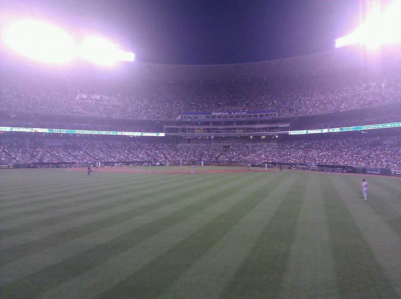 Seating view for Kauffman Stadium Section 102 Row c Seat 19