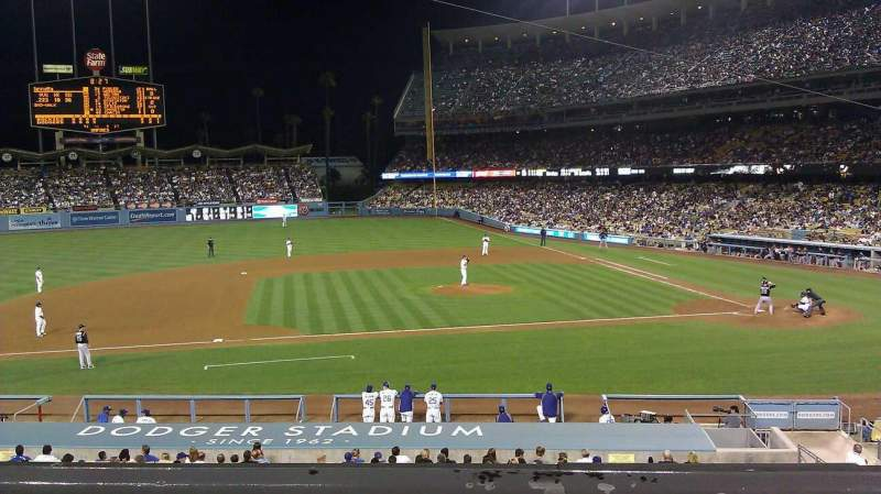 Seating view for Dodger Stadium Section 131LG Row B Seat 3