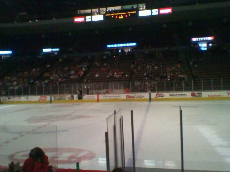 Seating view for Heritage Bank Center Section 112 Row G Seat 8