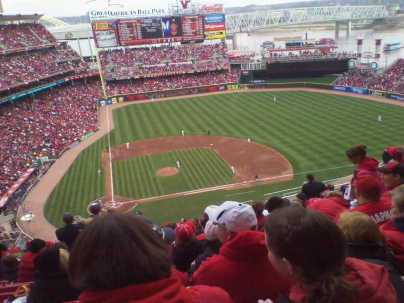 Seating view for Great American Ball Park Section 528 Row P Seat 12