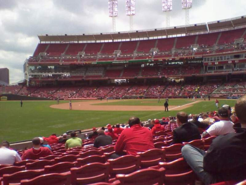 Seating view for Great American Ball Park Section 111 Row S Seat 12