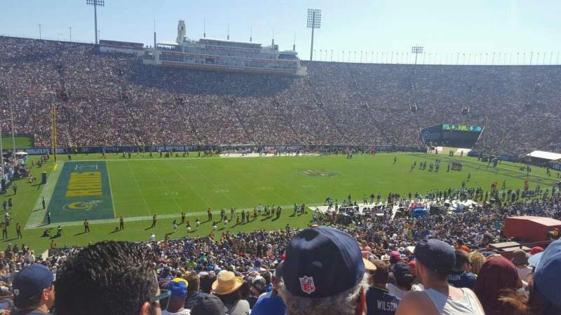 Seating view for Los Angeles Memorial Coliseum Section 24L Row 57 Seat 19
