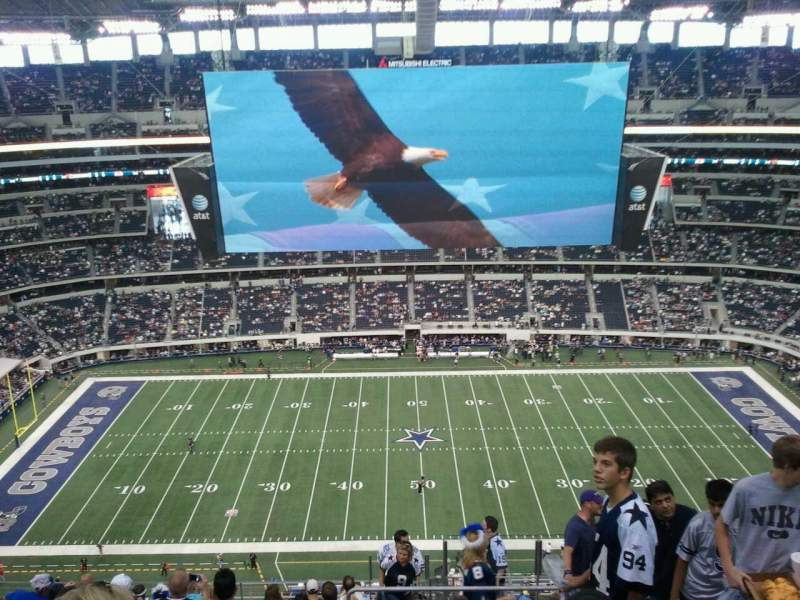Seating view for AT&T Stadium Section 413 Row 21 Seat 2