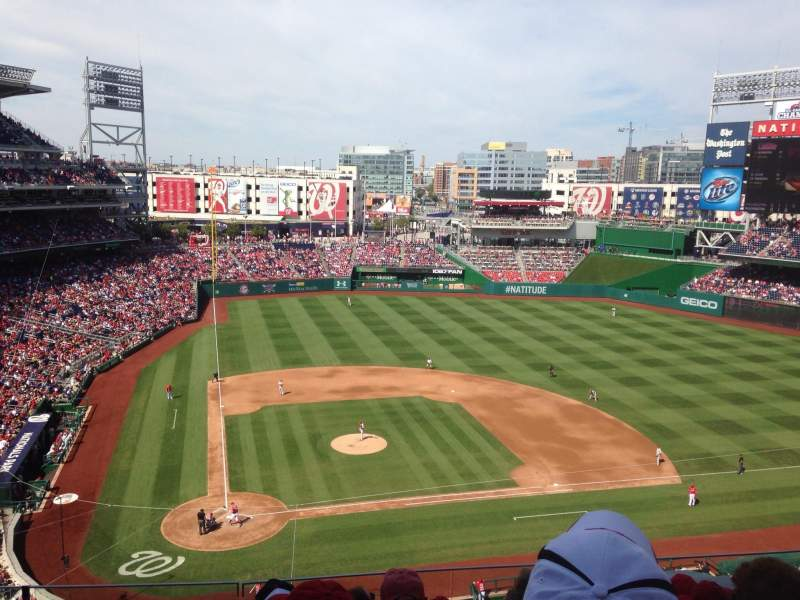 Seating view for Nationals Park Section 317 Row F Seat 11