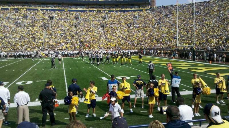Seating view for Michigan Stadium Section 21 Row 3 Seat 22