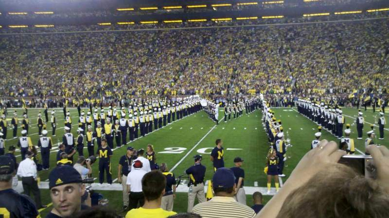 Seating view for Michigan Stadium Section 21 Row 3 Seat 25