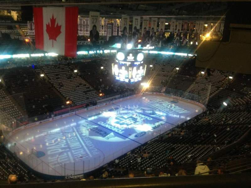 Seating view for Air Canada Centre Section 312 Row 1 Seat 20