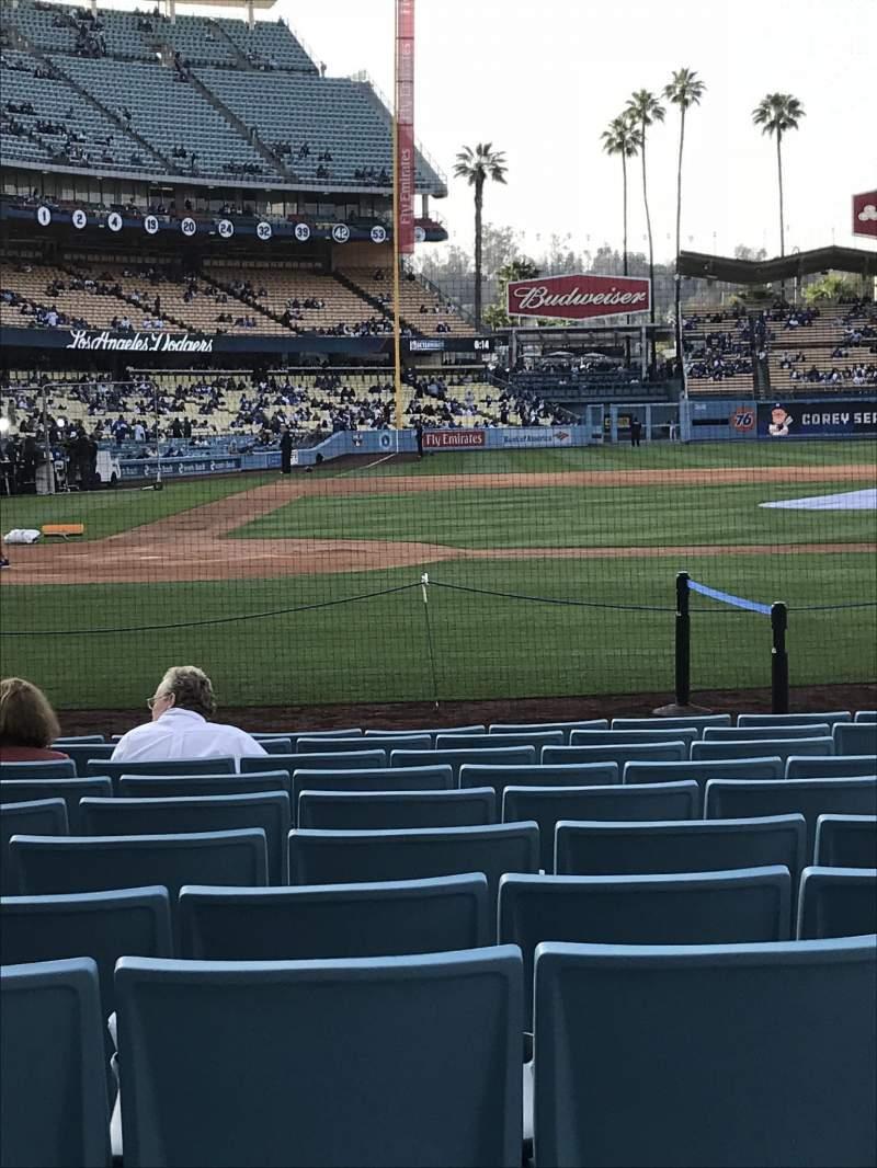 Dodger Stadium, section: 12FD, row: B, seat: 1