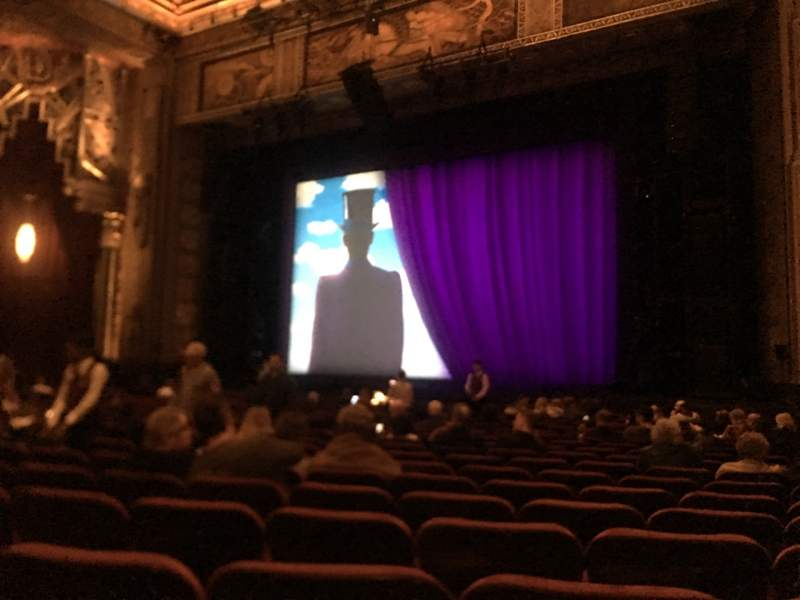 Seating view for Hollywood Pantages Theatre Section Orchestra RC Row T Seat 211