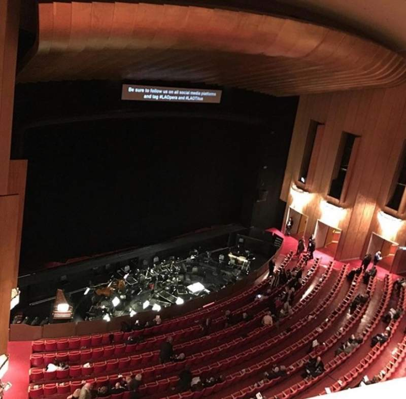 Seating view for Dorothy Chandler Pavilion Section Balcony A