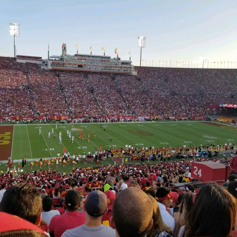 Seating view for Los Angeles Memorial Coliseum Section 24L Row 57 Seat 11