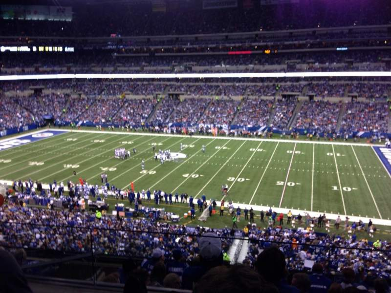 Seating view for Lucas Oil Stadium Section 437 Row 2 Seat 16