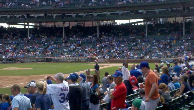 Seating view for Wrigley Field Section 6 Row 13 Seat 11