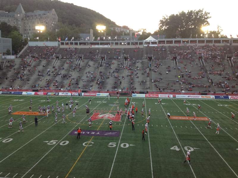 Seating view for Percival Molson Memorial Stadium Section T2 Row 1 Seat 5
