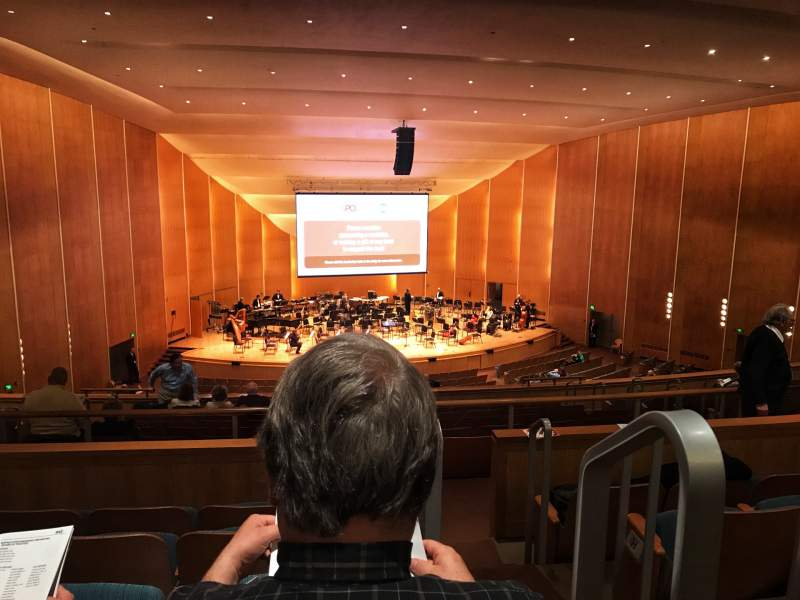 Seating view for Kleinhans Music Hall Section Middle balcony Row K Seat 19