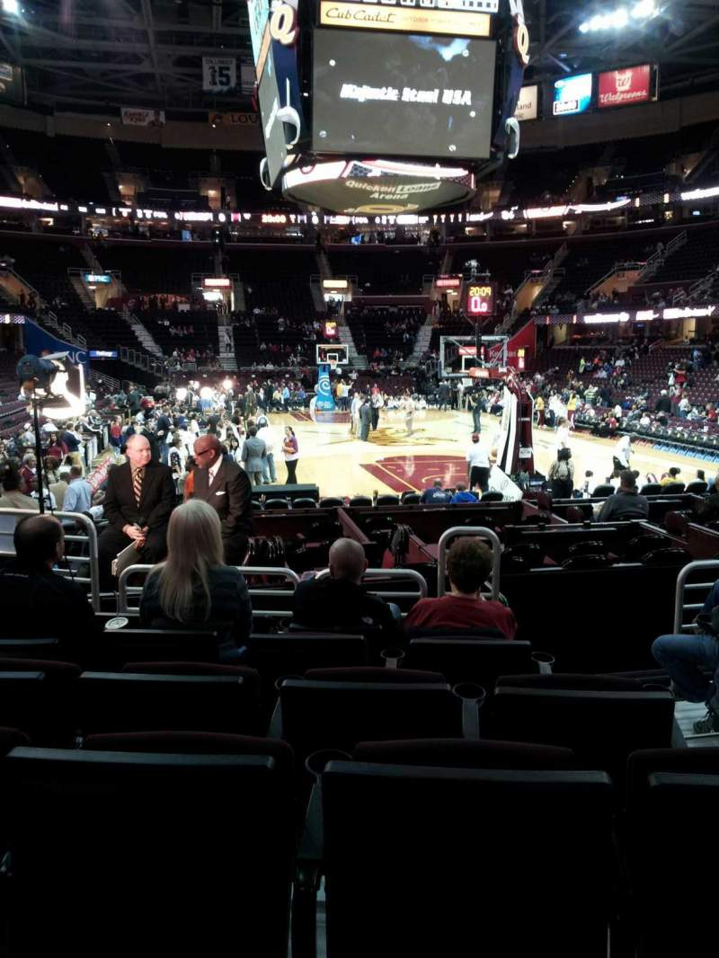 Seating view for Quicken Loans Arena Section 133 Row 6 Seat 5