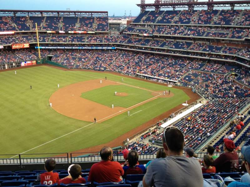 Seating view for Citizens Bank Park Section 431 Row 8 Seat 10