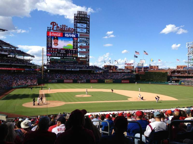Seating view for Citizens Bank Park Section 120 Row 32 Seat 3
