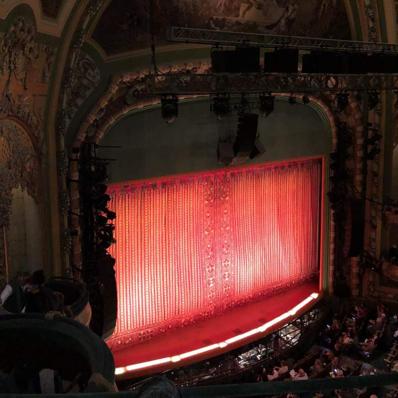 Seating view for New Amsterdam Theatre Section Balcony L Row C Seat 31