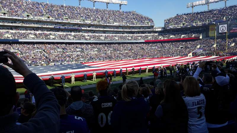 Seating view for M&T Bank Stadium Section 130 Row 11 Seat 17-18
