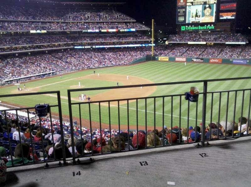 Seating view for Citizens Bank Park Section 210 Row 12 Seat 14