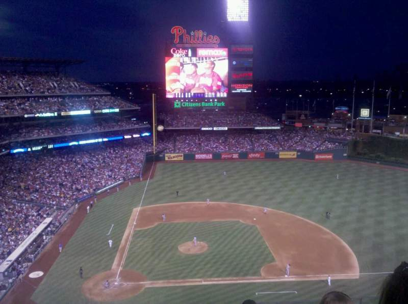 Seating view for Citizens Bank Park Section 416 Row 6 Seat 14