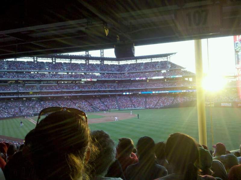 Seating view for Citizens Bank Park Section 107 Row 20 Seat 21