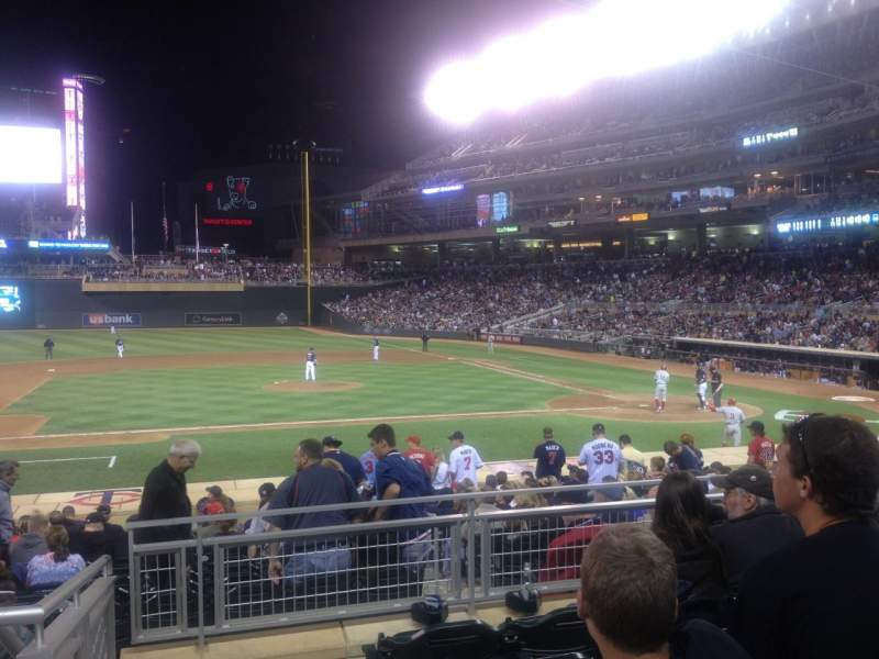 Seating view for Target Field Section 119 Row 5 Seat 24