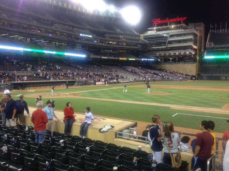 Seating view for Target Field Section 3 Row 12 Seat 16