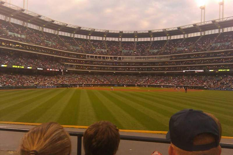 Seating view for Progressive Field Section 101 Row C Seat 7