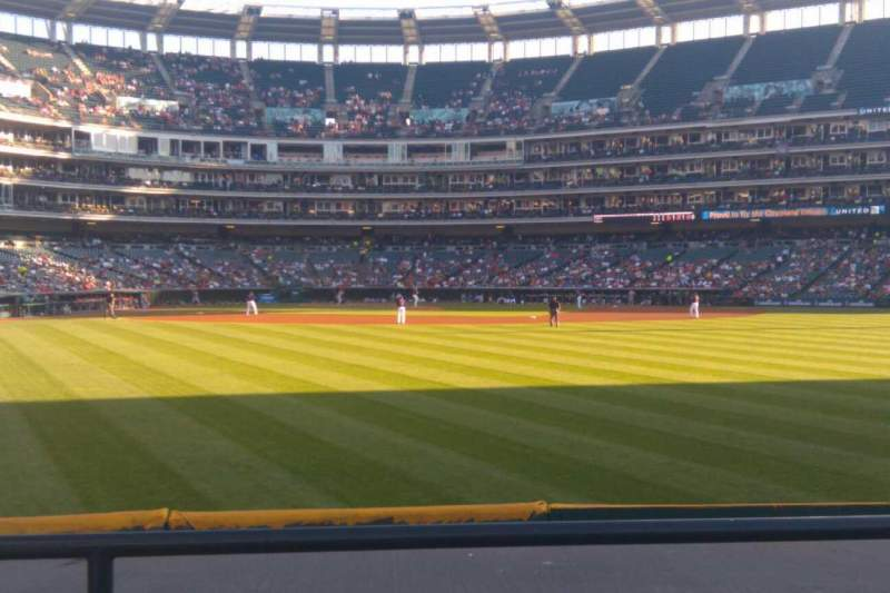 Seating view for Progressive Field Section 103 Row C Seat 7