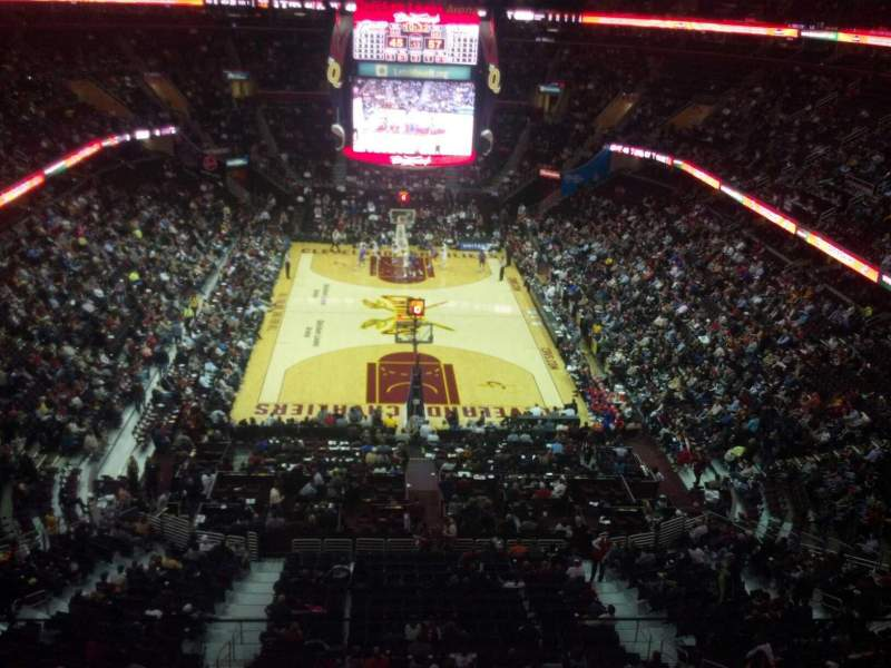 Seating view for Quicken Loans Arena Section 217 Row 3 Seat 3