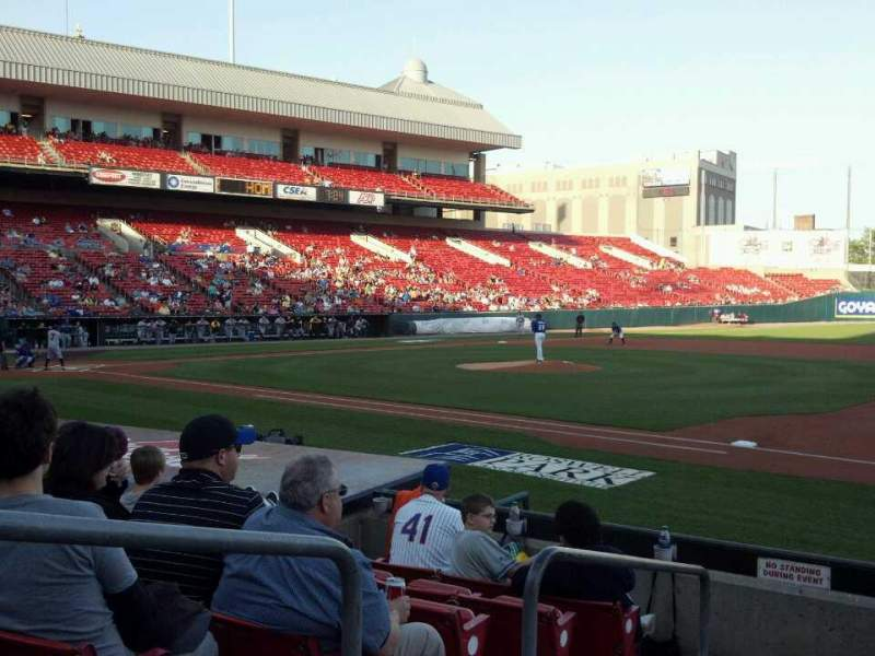 Seating view for Coca-Cola Field Section 116 Row H Seat 23