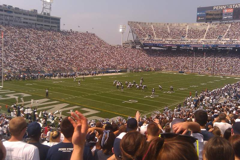 Seating view for Beaver Stadium Section SB Row 33 Seat 19