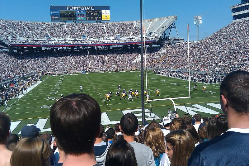 Seating view for Beaver Stadium Section SF Row 30 Seat 18