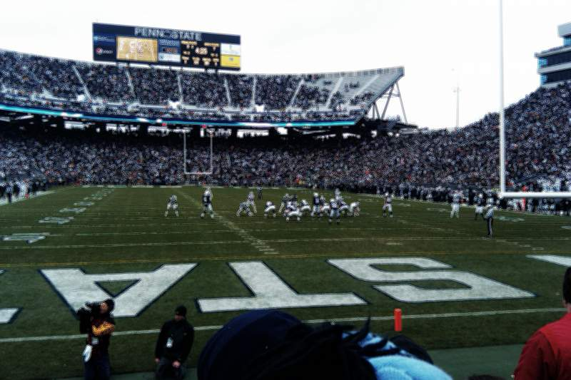 Seating view for Beaver Stadium Section SG Row 3 Seat 29