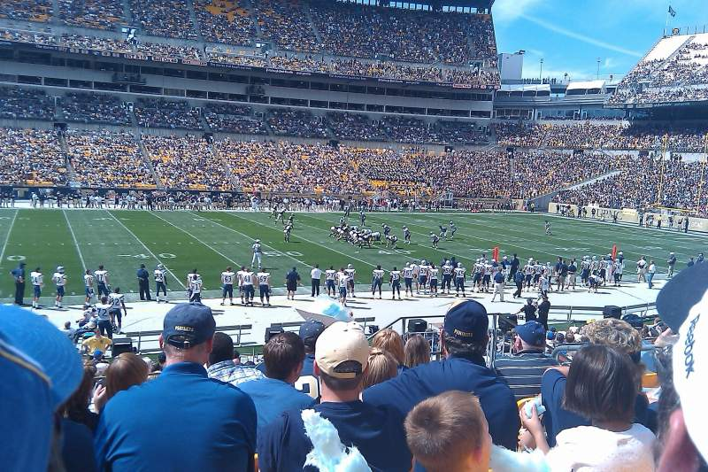 Seating view for Heinz Field Section 109 Row S Seat 7