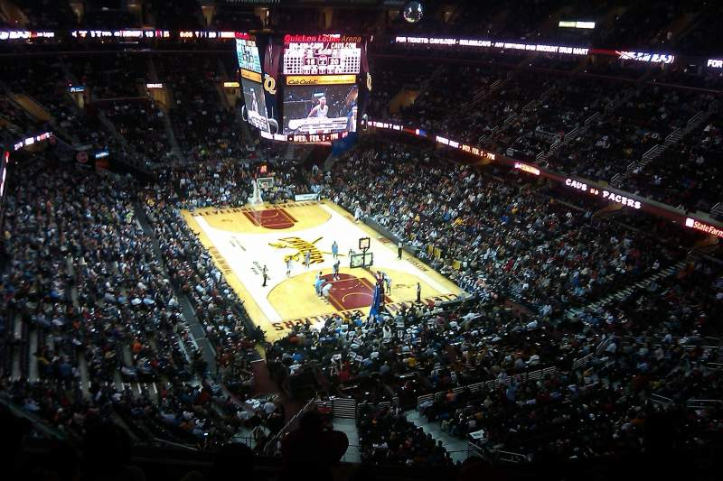 Seating view for Quicken Loans Arena Section 215 Row 7 Seat 5