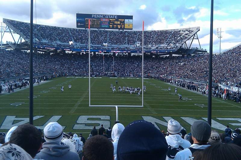 Seating view for Beaver Stadium Section SF Row 24 Seat 11