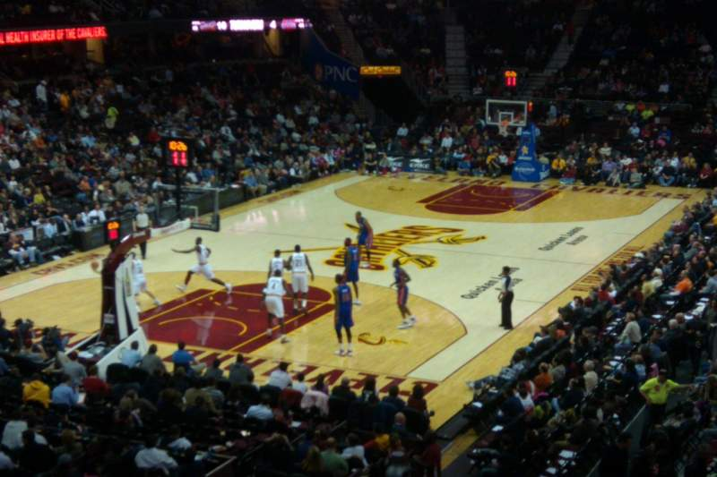 Seating view for Quicken Loans Arena Section 103 Row 21 Seat 3