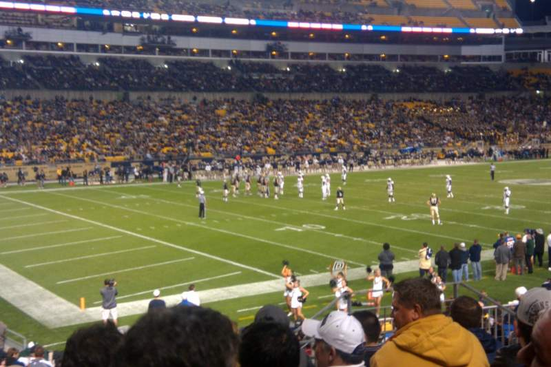 Seating view for Heinz Field Section 105 Row S Seat 7