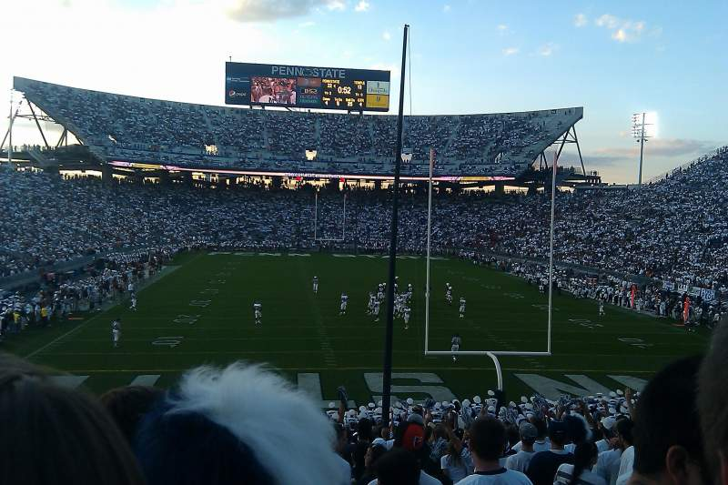 Seating view for Beaver Stadium Section SF Row 34 Seat 4
