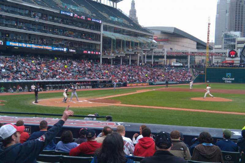 Seating view for Progressive Field Section 146 Row Q Seat 1