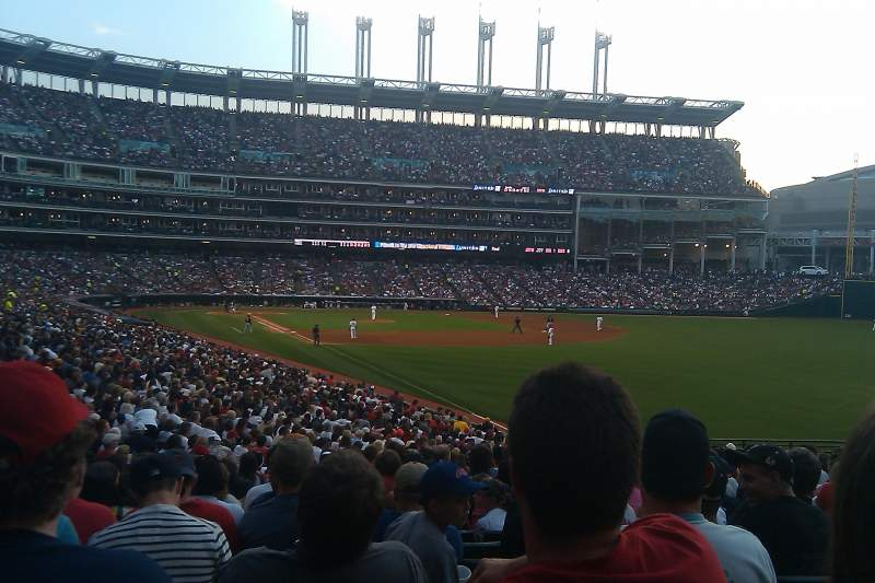 Seating view for Progressive Field Section 117 Row KK Seat 21