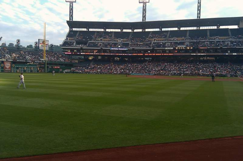 Seating view for PNC Park Section 133 Row A Seat 17