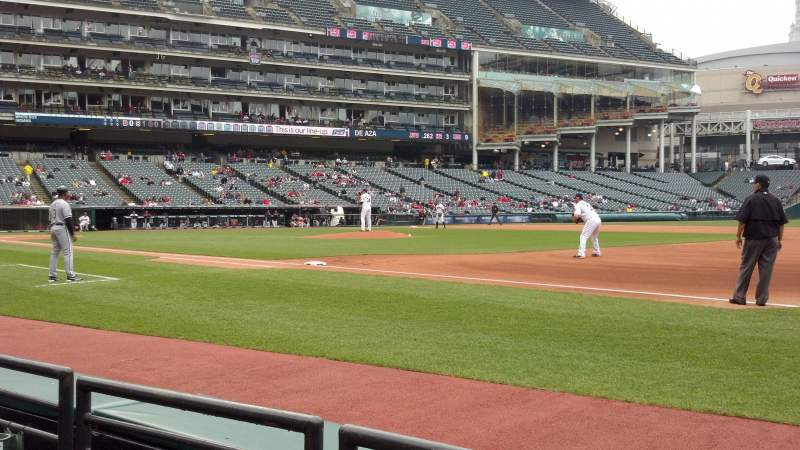 Seating view for Progressive Field Section 136 Row B Seat 7