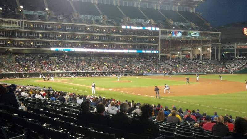 Seating view for Progressive Field Section 130 Row Q Seat 7