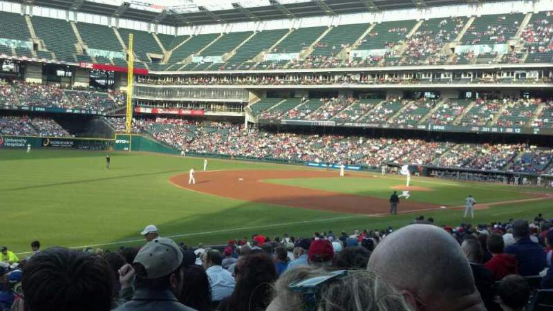 Seating view for Progressive Field Section 172 Row DD Seat 7